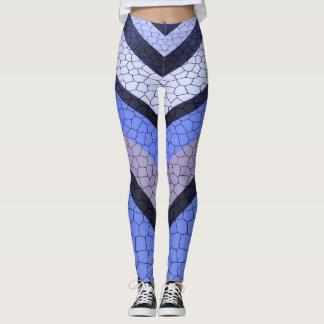 Chevron Blue Mosaic Leggings