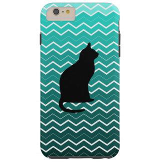 Chevron blue ombre Cat iphone 6 case