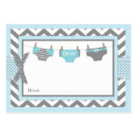 Chevron Blue Owl Diaper Raffle Ticket Pack Of Chubby Business Cards