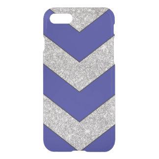 chevron blue silver iPhone 7 case