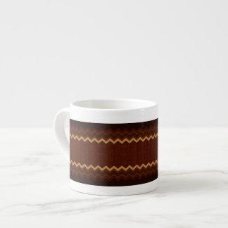 Chevron Border CRRd Espresso Mug