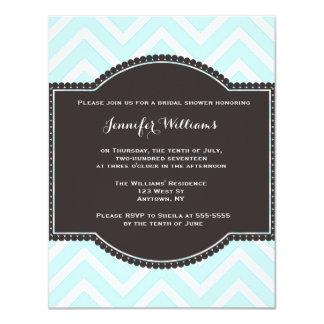 Chevron bridal shower invitations
