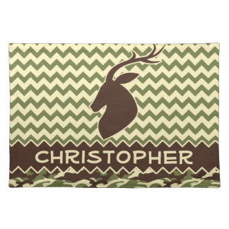 Chevron Buck Camouflage Personalize Placemat