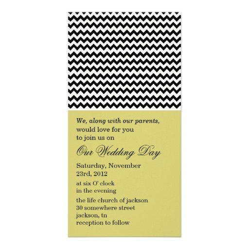 Chevron Chartreuse Photo Cards Wedding Invites