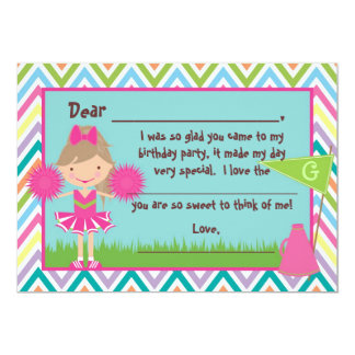 Chevron Cheer Flat Thank You Notes Card