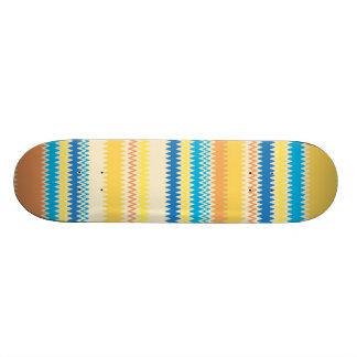 Chevron Colorful Zigzag Stripe Decorative 18.1 Cm Old School Skateboard Deck