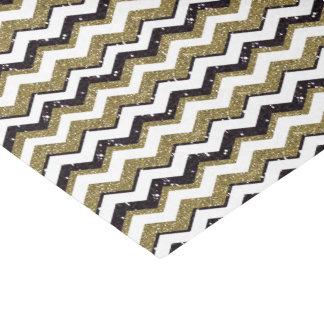 Chevron Customize Gold/Black & White Any Occasion Tissue Paper