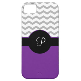 Chevron Design Gray Black Purple iPhone5 Case