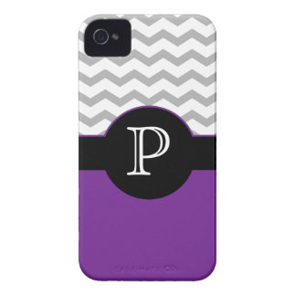 Chevron Design Gray Black Purple iPhone 4/4s case