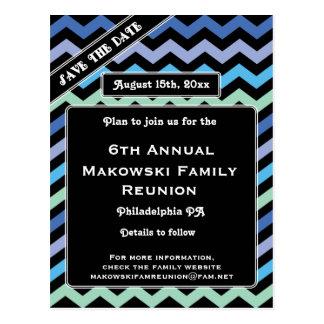 Chevron Design-Reunion, Event, Party Save the Date Postcard