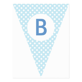 Chevron & Dot Party Flag Bunting Banner Post Card