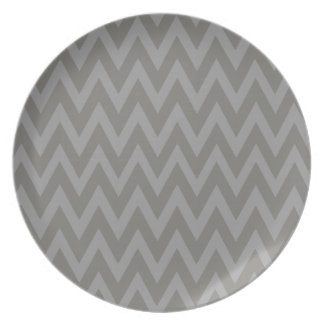 Chevron Dreams grey and ash Party Party Plates
