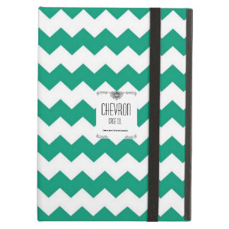Chevron Emerald And White Case