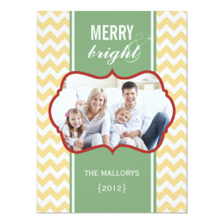 Chevron Family Holiday Flat Card 17 Cm X 22 Cm Invitation Card