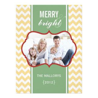 Chevron Family Holiday Flat Card Custom Announcements