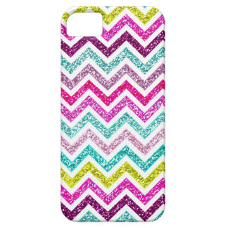 Chevron Faux Glitter Rainbow Coloful Girly Bling iPhone 5 Cases