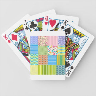 Chevron Floral striped pattern Bicycle Playing Cards