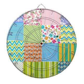 Chevron Floral striped pattern Dart Boards
