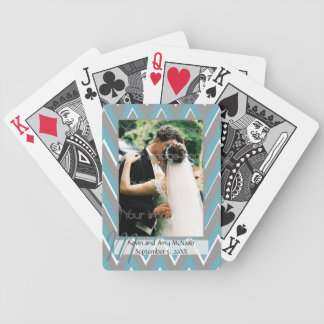 Chevron Framed Photo Playing Cards
