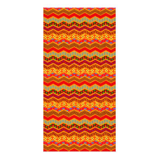 Chevron Geometric Designs Color Orange, Red, Blue2 Customised Photo Card