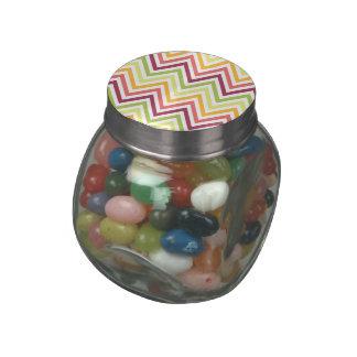 Chevron Glass Jelly Belly™ Glass Jar