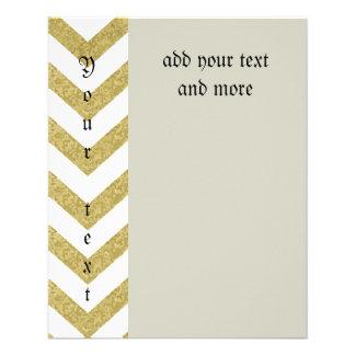 chevron,gold,zig zag,trendy,girly,cute,elegant,fun 11.5 cm x 14 cm flyer