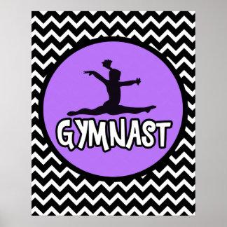 Chevron Gymnast Poster