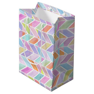 Chevron in Multi Medium Gift Bag