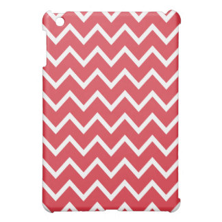 Chevron iPad Mini Case - Poppy Red