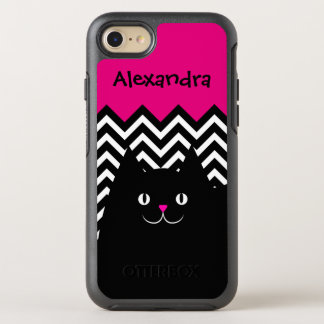 Chevron Kitty Cat OtterBox Symmetry iPhone 8/7 Case