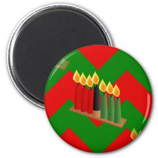 chevron kwanzaa magnet