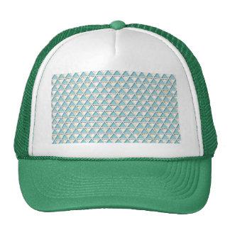 Chevron light teal white chic elegant pattern hat