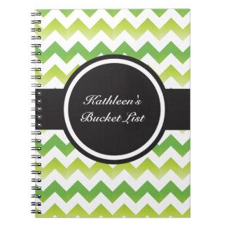 Chevron Lime Notebook