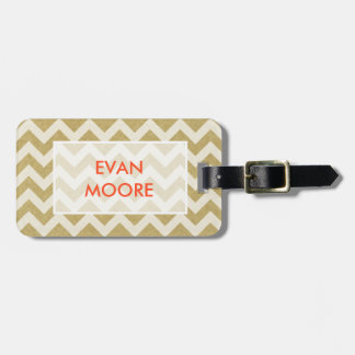 Chevron Luggage Tag