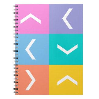Chevron lularoe inspired colors notebook