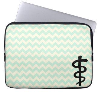 Chevron Medical Symbol Laptop Sleeve