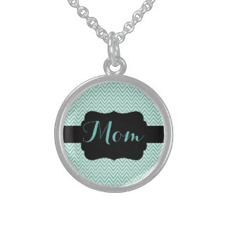 "Chevron ""Mom"" Necklace"
