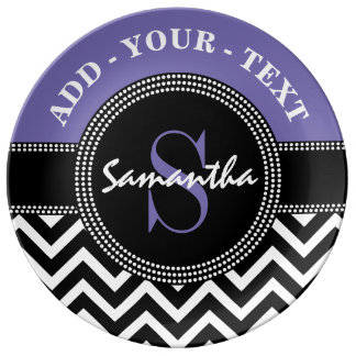 Chevron Monogram Custom Plate for the Graduate