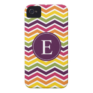 Chevron Monogram Purple Orange Pink iPhone 4 Cover