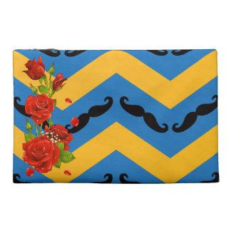Chevron Moustache Travel Accessory Bags