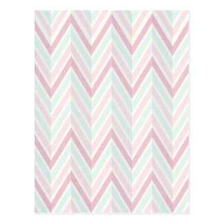 Chevron, multi, color, pastels, zig zag, girly postcards