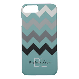 chevron on blue personalized iPhone 7 case