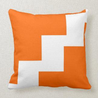 Chevron Orange and White Throw Pillow