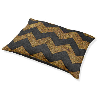 Chevron Paisley Pattern Geometric ZigZag Design Pet Bed