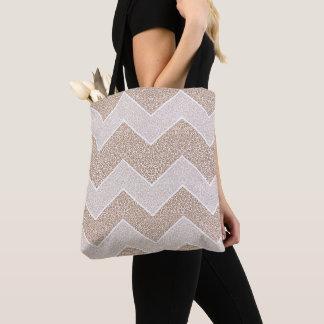 Chevron Paisley Pattern Geometric ZigZag Design Tote Bag