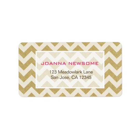 Chevron Pattern Address Labels