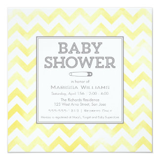Chevron pattern Baby Shower invitation