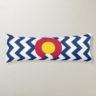 Chevron Pattern Colorado Flag Body Pillow
