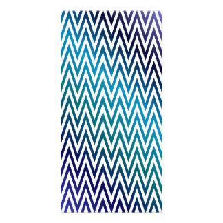 Chevron pattern customised photo card