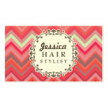 Chevron Pattern Hair Stylist Appointment Cards Pack Of Standard Business Cards